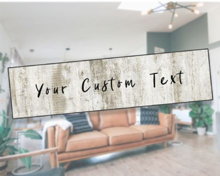 Personlised Custom Your Any Text Metal Sign Plaque